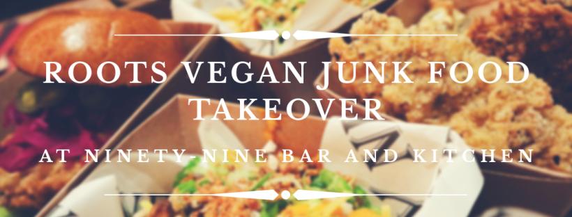 Roots Catering Vegan Junk Food blog header