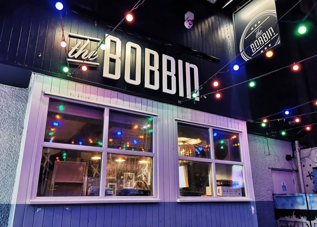 Exterior of The Bobbin, a student pub in Aberdeen