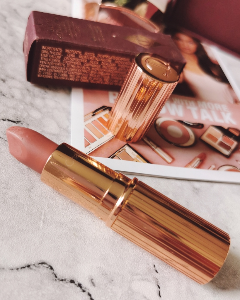 Charlotte Tilbury Lipstick in the shade Pillow Talk